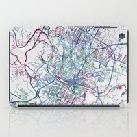austin iPad Cases featuring Austin map by MapMapMaps.Watercolors