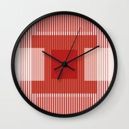 Dessin Lines & Rectangles III Wall Clock