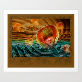 Looking through a Glass Onion Art Print