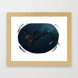 Mermaid (Dark) Framed Art Print
