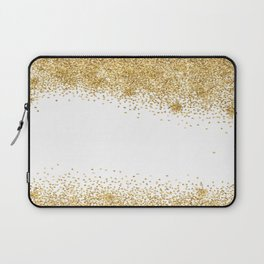Sparkling golden glitter confetti effect Laptop Sleeve