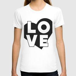 LOVE & heart T-shirt