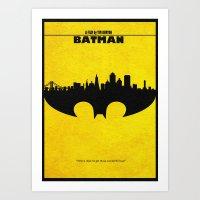 bat man Art Prints featuring Bat Man by A Deniz Akerman