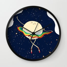 Saturn Ballerina and Her New Dress Wall Clock