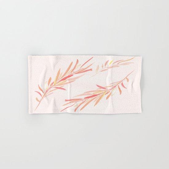 Eucalyptus Leaves Pink Hand & Bath Towel