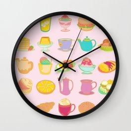 NY Breakfast Wall Clock