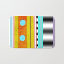 Polka Dots  and Colorful Fun Bath Mat