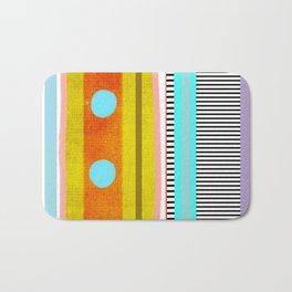 Polka Dots  and Colorful Fun Bath Mat
