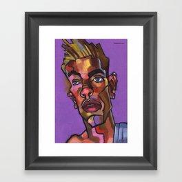 Louie After His Shower Framed Art Print