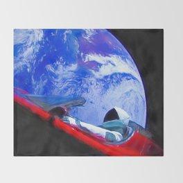 Tesla's Starman Throw Blanket