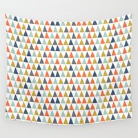 geo Wall Tapestries featuring Geo  by TwoPoochPaperie