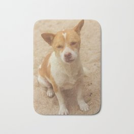 Happy red dog Bath Mat