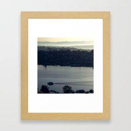 First Boat of Morning Framed Art Print