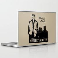 writer Laptop & iPad Skins featuring Richard Castle, Mystery Writer by LimitLyss