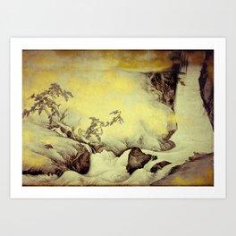 A Golden Winter Art Print