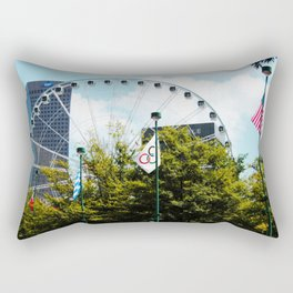 Atlanta Ferris Wheel Rectangular Pillow