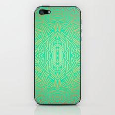 Radiate (Yellow/Ochre Teal- non metallic) iPhone & iPod Skin