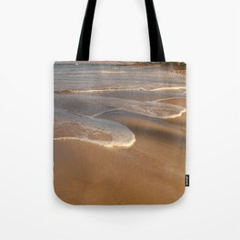 Gentle Waves on Beach Tote Bag