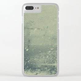 Grunge Delight Sepia Halftone Clear iPhone Case