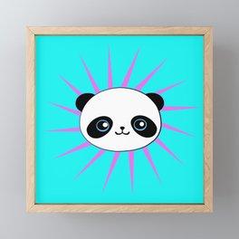 Wild Rockstar Panda Framed Mini Art Print