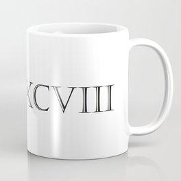 Roman Numerals - 1998 Coffee Mug