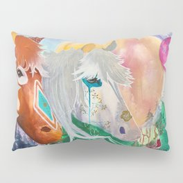 You and me - Horses - Animal - by LiliFlore Pillow Sham