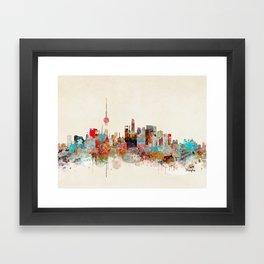 shanghai city skyline Framed Art Print