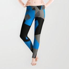 Black\Grey\Blue Geometric Camo Leggings
