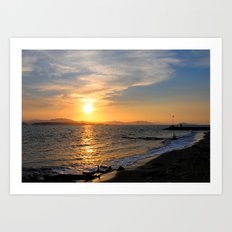 Sunset at Puntarenas Art Print
