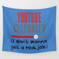 "celebrity Wall Tapestries featuring ""Celebrity"" by Kramcox"