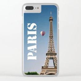 Vintage Paris France Eiffel Tower Clear iPhone Case