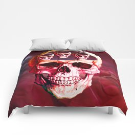 Funny Skull Comforters