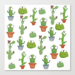 Cute Cacti Canvas Print