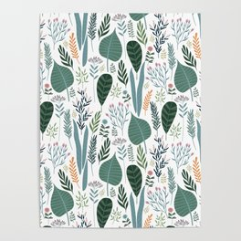 Early Spring Thaw In The Flower Garden Pattern Poster