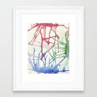 splatter Framed Art Prints featuring Splatter by Alex Camp