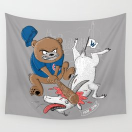 The Goat is Dead! (grey version) Wall Tapestry