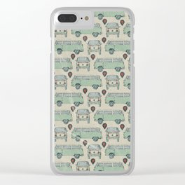On My Way To Everywhere Pattern Clear iPhone Case