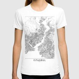 Istanbul White Map T-shirt