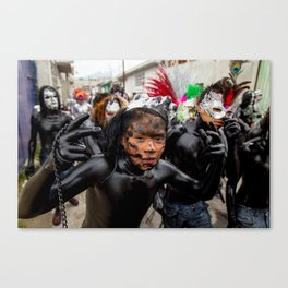 Painted young Canvas Print