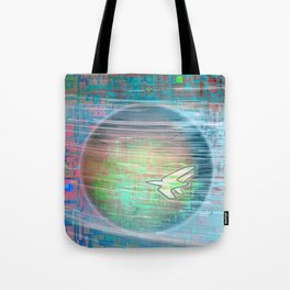 Flying Around the World Tote Bag