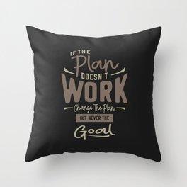 Goals - Motivational Quotes Throw Pillow