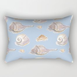 She Sells Sea Shells - Blue Rectangular Pillow