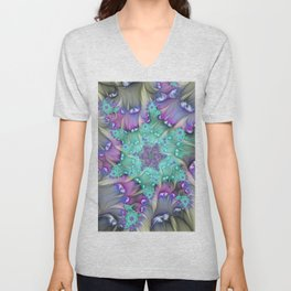 Find Yourself, Abstract Fractal Art Unisex V-Neck