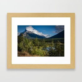 View of Mount Rundle Framed Art Print