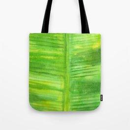Banana Leaf Watercolor Painting Tote Bag