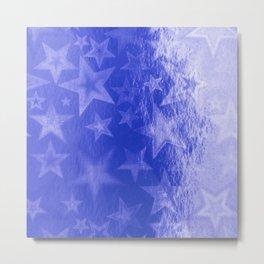 Royal Blue Starshine Metal Print