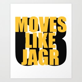 Moves Like Jagr Art Print