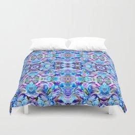 Turquoise Blue Flower Girly  Pattern Duvet Cover