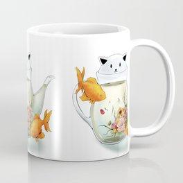 Flowering Tea in a Cat Teapot Coffee Mug