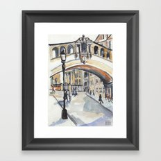 Oxford: Bridge of Sighs Framed Art Print